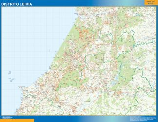 Biggest Region of Leiria map in Portugal