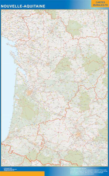 Biggest Region of Nouvelle Aquitaine map