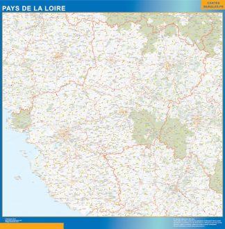 Biggest Region of Pays de la Loire map