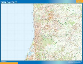 Biggest Region of Porto map in Portugal