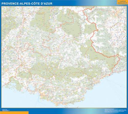 Biggest Region of Provence-alpes cote azur map