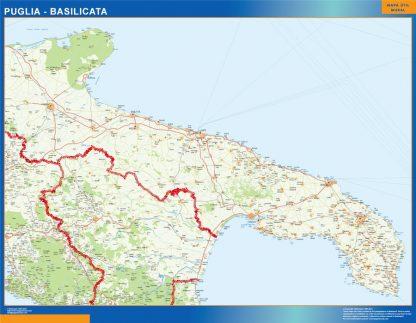 Biggest Region of Puglia Basilicata in Italy