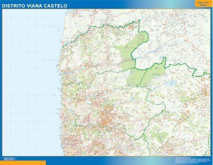 Biggest Region of Viana Castelo map in Portugal