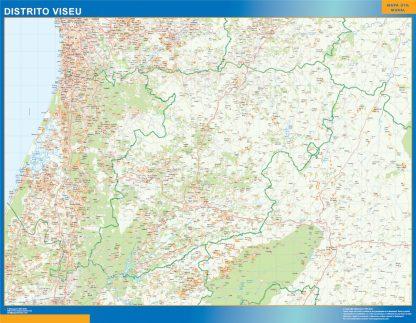 Biggest Region of Viseu map in Portugal