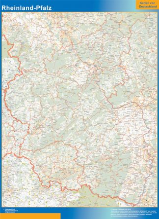 Biggest Rheinland-Pfalz map