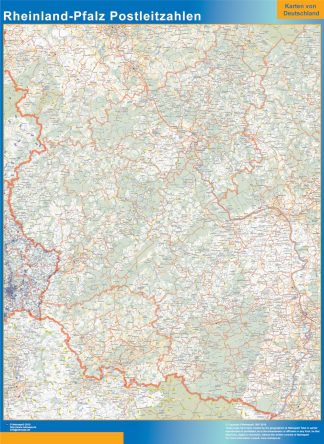 Biggest Rheinland-Pfalz zip codes map