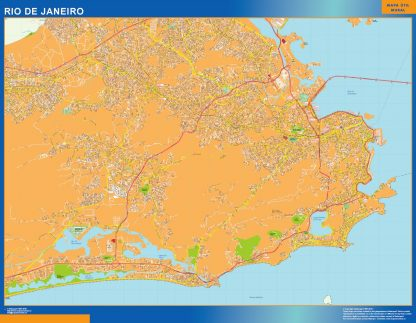Biggest Rio de Janeiro map