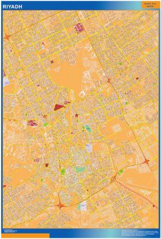 Biggest Riyadh laminated map