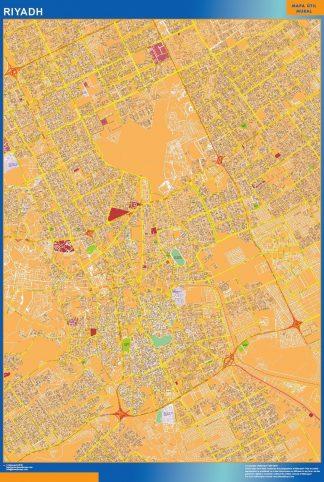Biggest Riyadh map in Saudi Arabia
