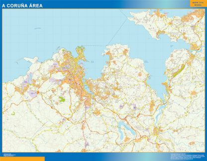 Biggest Road map A Coruna Spain