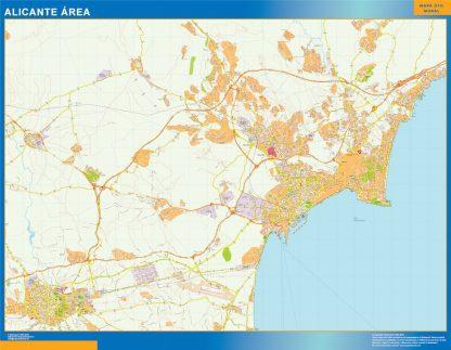 Biggest Road map Alicante Spain