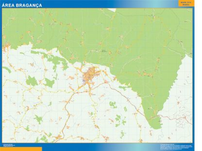 Biggest Road map Braganca Portugal