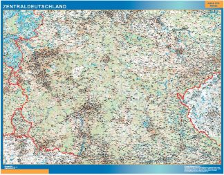 Biggest Road map Germany Central