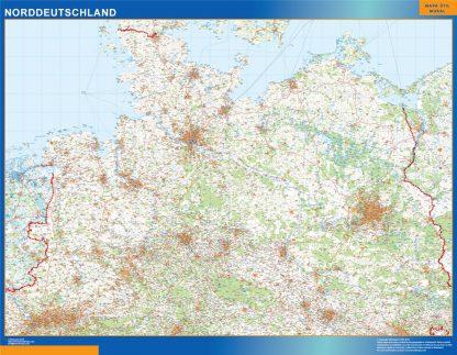 Biggest Road map Germany North