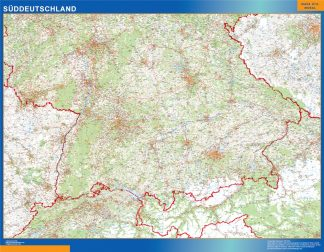 Biggest Road map Germany South