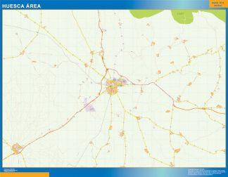 Biggest Road map Huesca Spain