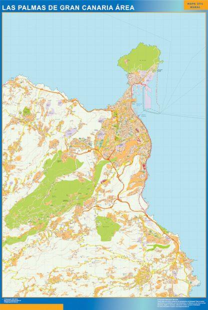 Biggest Road map Las Palmas Gran Canaria Spain