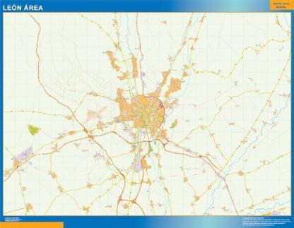Biggest Road map Leon Spain