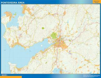 Biggest Road map Pontevedra Spain