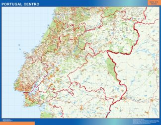 Biggest Road map Portugal Central