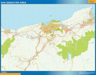 Biggest Road map San Sebastian Spain