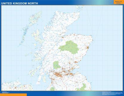 Biggest Road map United Kingdom North