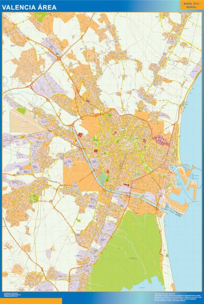 Biggest Road map Valencia Spain