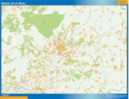 Biggest Road map Vila Real Portugal