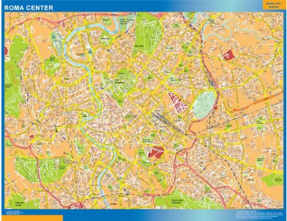 Biggest Roma downtown map