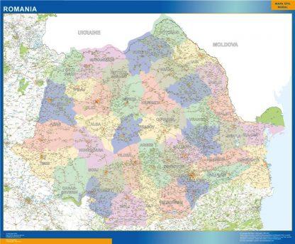 Biggest Romania map