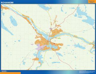 Biggest Rovaniemi map Finland