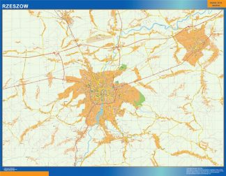 Biggest Rzeszow map Poland
