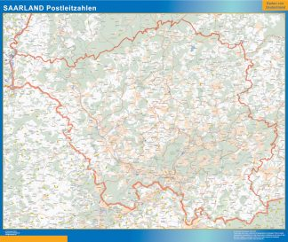Biggest Saarland zip codes map