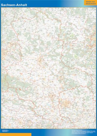 Biggest Sachsen-Anhalt map