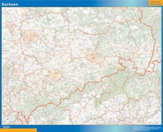 Biggest Sachsen map