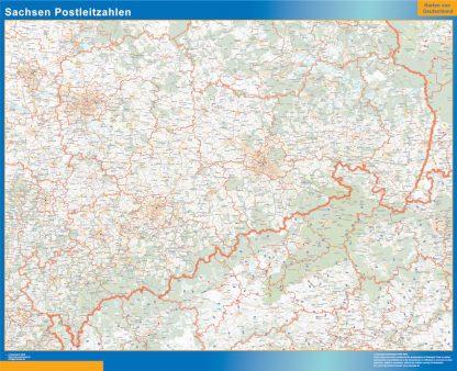 Biggest Sachsen zip codes map