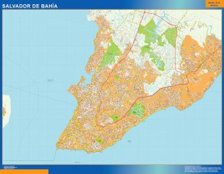 Biggest Salvador Bahia map
