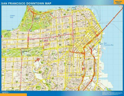 Biggest San Francisco downtown map