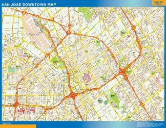 Biggest San Jose downtown map