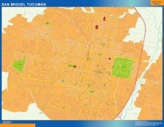 Biggest San Miguel Tucuman map in Argentina