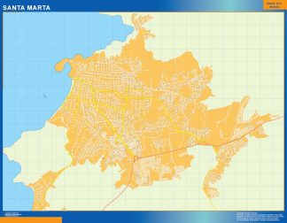 Biggest Santa Marta map in Colombia
