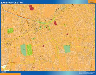 Biggest Santiago de Chile map from Chile