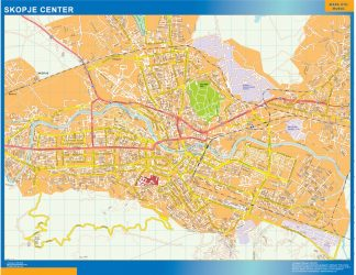 Biggest Skopje downtown map