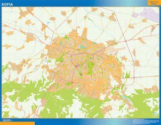 Biggest Sofia wall map