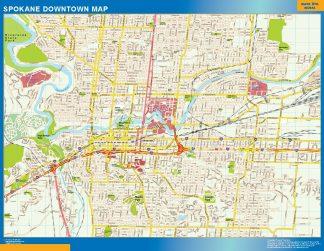 Biggest Spokane downtown map