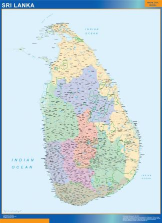 Biggest Sri Lanka map