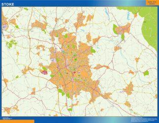 Biggest Stoke laminated map