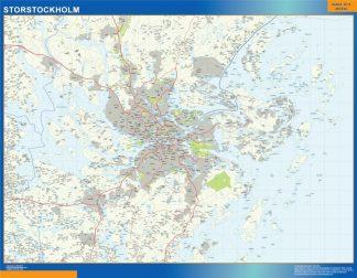 Biggest Storstockholm map in Sweden