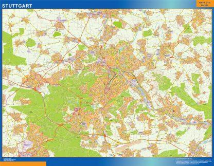 Biggest Stuttgart map in Germany