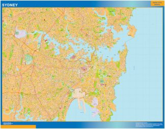 Biggest Sydney laminated map